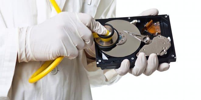 Externe Festplatte testen
